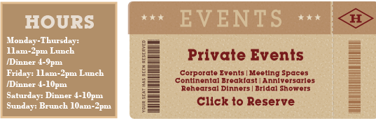 Hours and Events